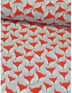 Softshell Fuchs Füchse grau orange Soft Shell