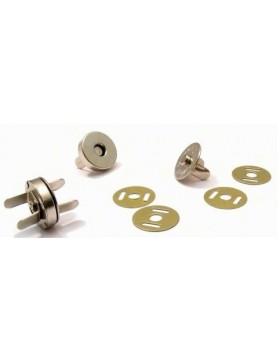 20 Magnetknöpfe 15 mm Durchmesser silber