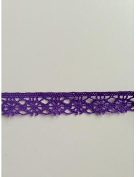 1m Spitze lila flieder 14 mm breit