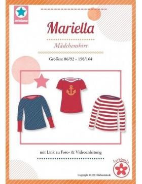 Schnittmuster Mariella Shirt Kindershirt Mialuna