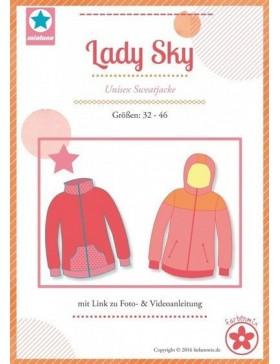 Schnittmuster Lady Sky Unisex Sweatjacke Mialuna