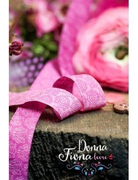 1m Webband Donna Fiona beere pink rosa Lila Lotta