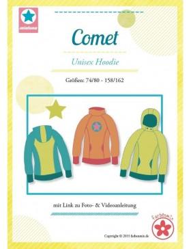 Schnittmuster Comet Hoodie Pullover Mialuna
