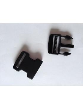 Steckschnalle Steckschieber 30 mm schwarz