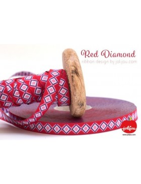 1m Webband Red Diamond Jolijou rot