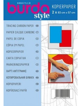 Burda Style Kopierpapier blau/rot 2 Stück