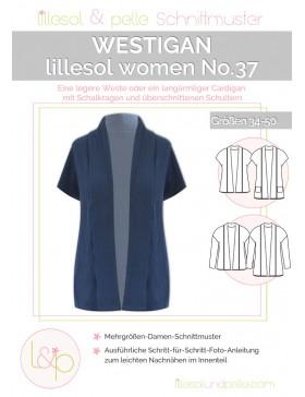 Schnittmuster Lillesol & Pelle Westigan Weste Cardigan Nr. 37 Damen