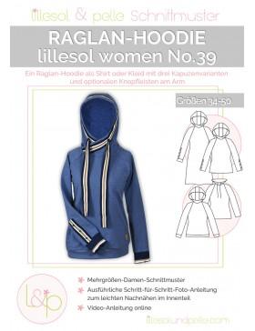 Schnittmuster Lillesol & Pelle Raglan Hoodie Nr. 39 Damen