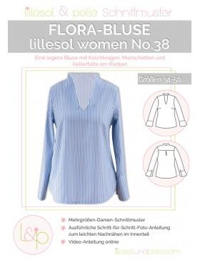 Schnittmuster Lillesol & Pelle Flora Bluse Nr. 38 Damen