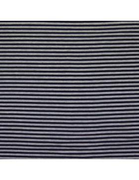 Modal Sweat dunkelblau grau melange geringelt gestreift