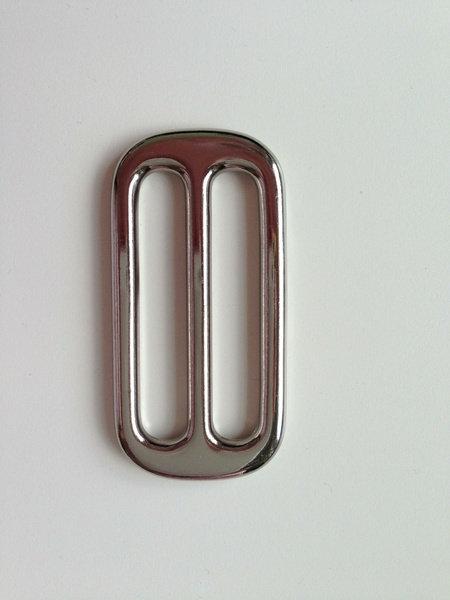 Schieber / Stopper 40 mm vernickelt silber Leiterschnalle