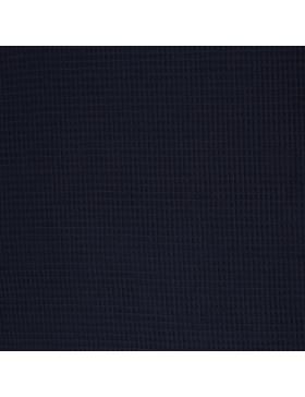 Waffelpique Waffelstoff dunkelblau blau marine uni einfarbig (598)