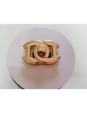 1 Taschenverschluss Drehverschluss CC (DDS) gold