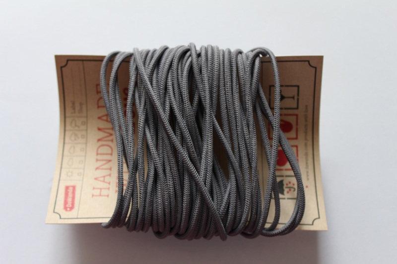 Gummikordel 3mm Gummiband grau hellgrau
