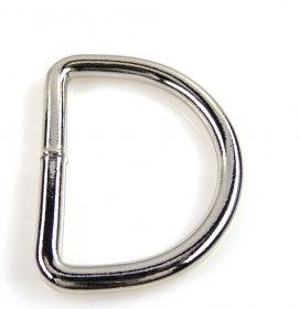 2 Stück D-Ringe 40 mm silber