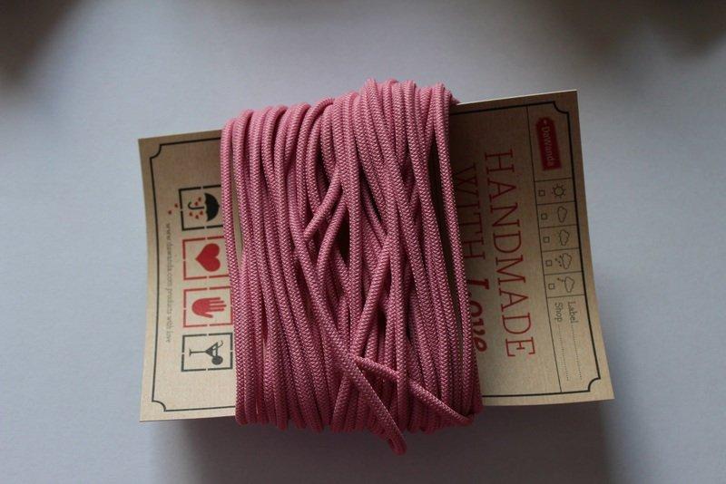 Gummikordel 3mm Gummiband rosa rose