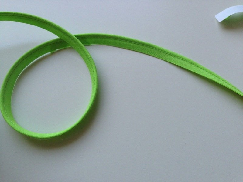 1m Paspelband apfelgrün hellgrün grün 10 mm breit