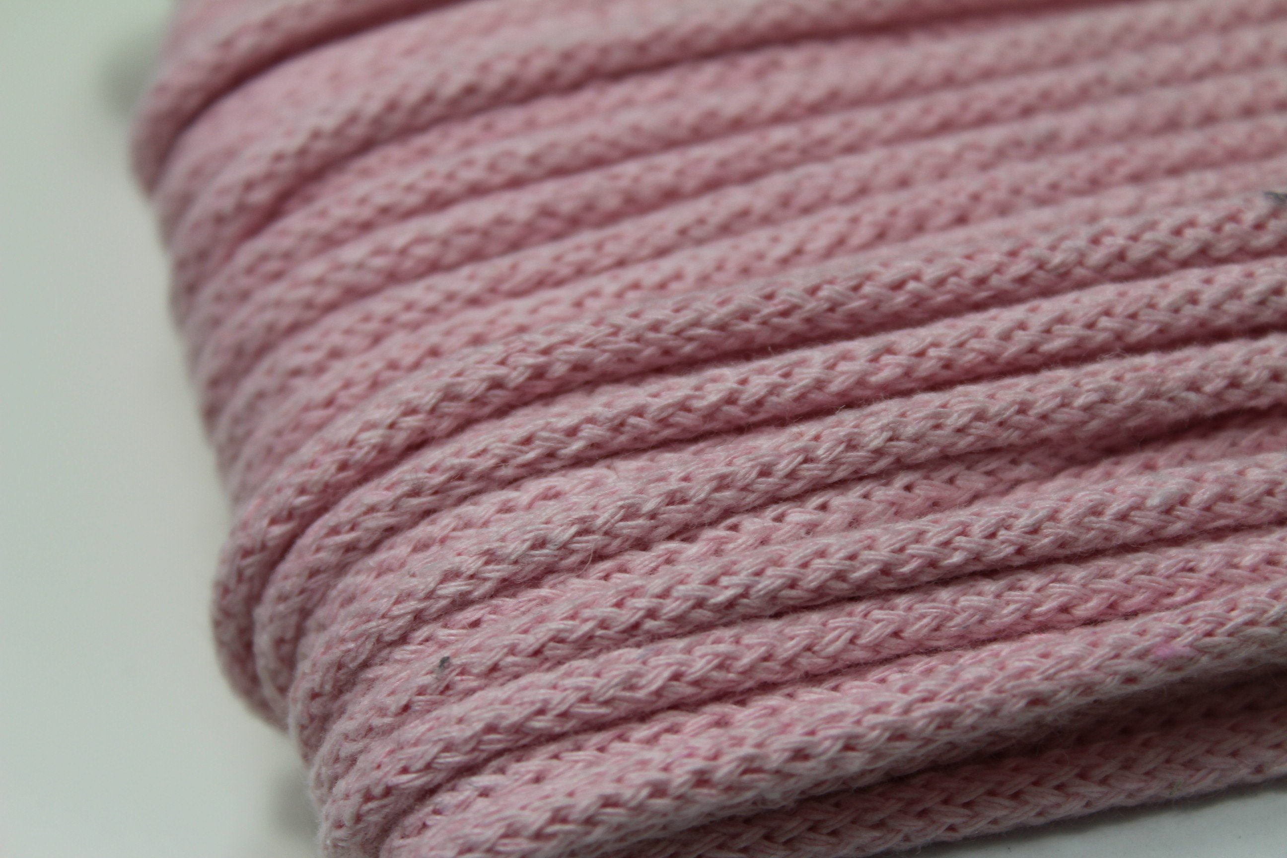 Baumwoll Kordel 6mm Durchmesser rosa