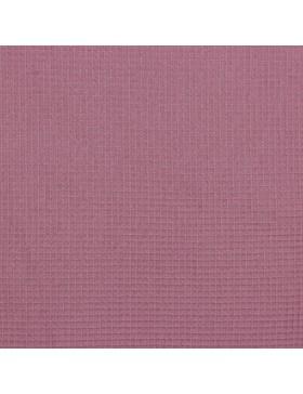 Waffelpique Waffelstoff mauve beere dunkles rosa altrosa uni einfarbig