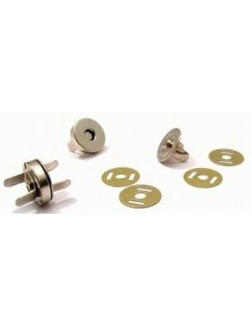 5 Magnetknöpfe 18 mm Durchmesser silber