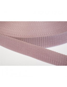 1 Meter Gurtband altrosa 25 mm breit Polyester