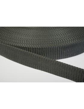 1 Meter Gurtband anthrazit 25 mm breit Polyester
