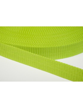 1 Meter Gurtband apfelgrün 25 mm breit Polyester