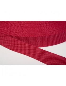 1 Meter Gurtband rot 30 mm breit Polyester