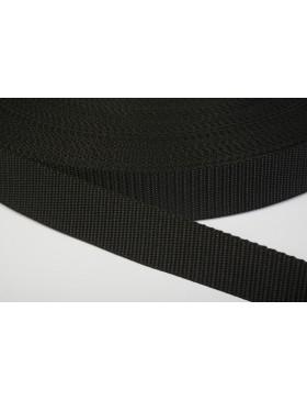 1 Meter Gurtband schwarz 25 mm breit Polyester