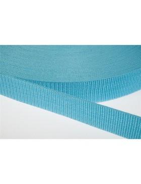 1 Meter Gurtband türkis aqua 25 mm breit Polyester