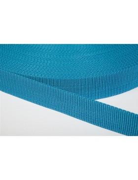 1 Meter Gurtband türkis blau dunkel 25 mm breit Polyester