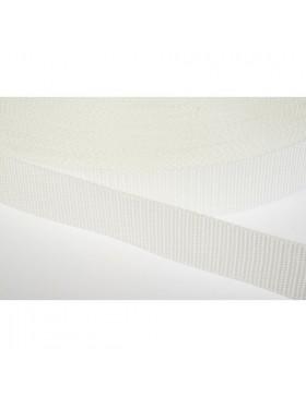 1 Meter Gurtband weiß 25 mm breit Polyester