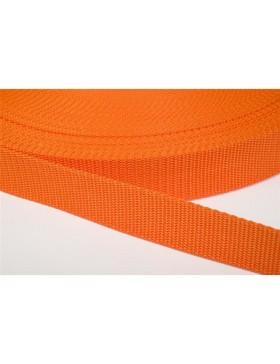 1 Meter Gurtband orange 25 mm breit Polyester