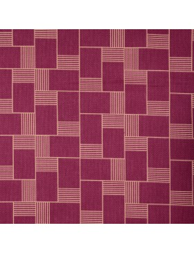 Canvas mit Struktur bordeaux creme Muster Karos Tillisy
