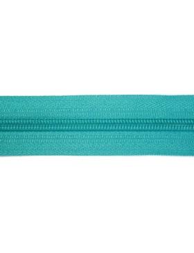 1 Meter Reißverschluss 3 mm türkis aquamarin + 3 Zipper