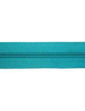 1 Meter Reißverschluss 3 mm türkis dunkel + 3 Zipper