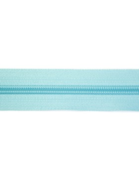 1 Meter Reißverschluss 3 mm türkis hell + 3 Zipper