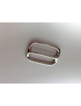 Schieber / Stopper 30 mm vernickelt silber Leiterschnalle