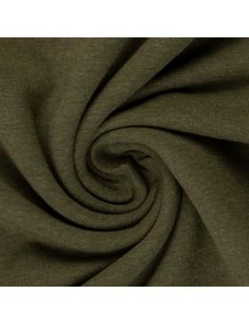 Sweatstoff Sweat melange meliert khaki oliv grün 1769 Eike