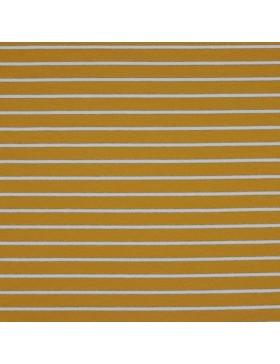 French Terry Sweat senf senfgelb weiß gold Lurex gestreift Streifen