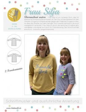 Schnittmuster Frau Silja Hedi Näht Shirt Langarmshirt Damen