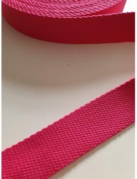 1 Meter Gurtband Pink 25 mm breit Baumwolle
