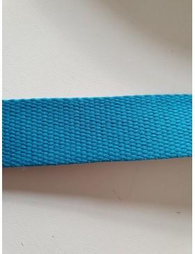 1 Meter Gurtband türkis 25 mm breit Baumwolle