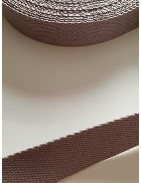 1 Meter Gurtband hellgrau 25 mm breit Baumwolle