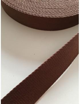1 Meter Gurtband braun 25 mm breit Baumwolle