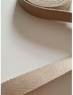 1 Meter Gurtband beige 25 mm breit Baumwolle