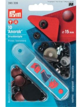 Prym Anorak Druckknöpfe Metall kupfer 15 mm