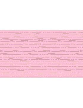 Baumwolle Dashes Streifen Linien rosa rose gold Libs Elliot...