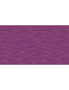 Baumwolle Dashes Streifen Linien lila violett gold Libs Elliot...