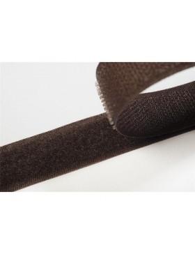 1 Meter Klettband dunkelbrau braun 20 mm breit